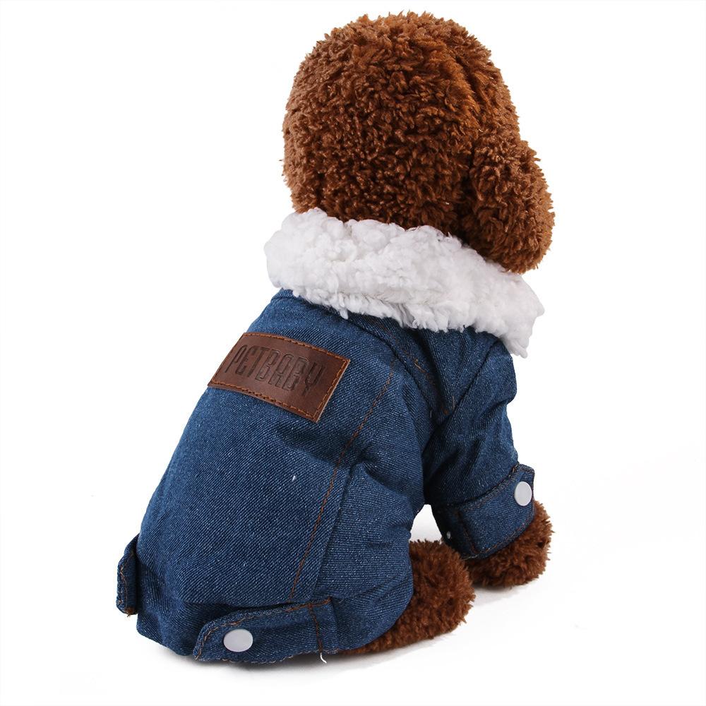 Hotsale winter plus velvet thick dog clothes pet cotton coat small and medium pet winter clothes