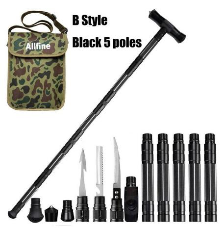 Robben Trekking Poles Walking Poles Outdoor Camping Defense Stick Safety Multi-Functional Home Rod Hiking Survival Tool