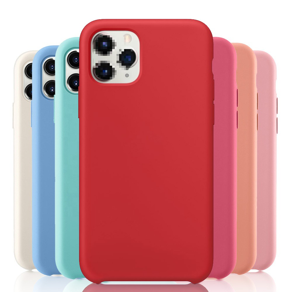 2020 68 Colors Soft Silicone Rubber Case for iPhone <strong>Accessories</strong> Original Liquid Silicone Phone Case