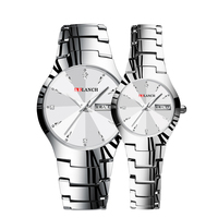 Customize fashion stainless steel watches couple wrist