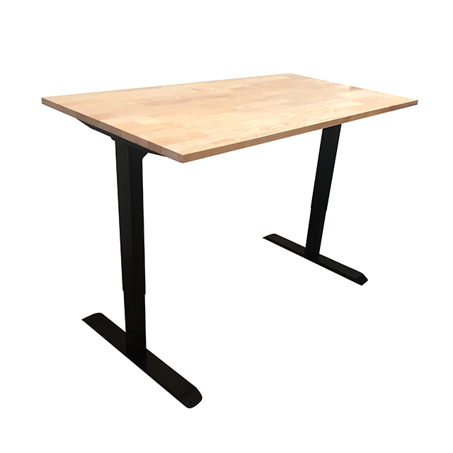Ergonomic motorized dual motors square leg electric height adjustable sit standing desk frame
