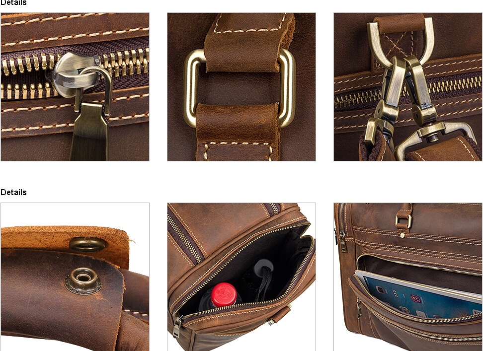 personalized handmade carry on brown genuine leather luggage suitcase travel bags