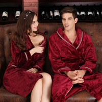 kimono collar cotton luxury Lovers' mr and mrs chinese woman bathrobes bath robe