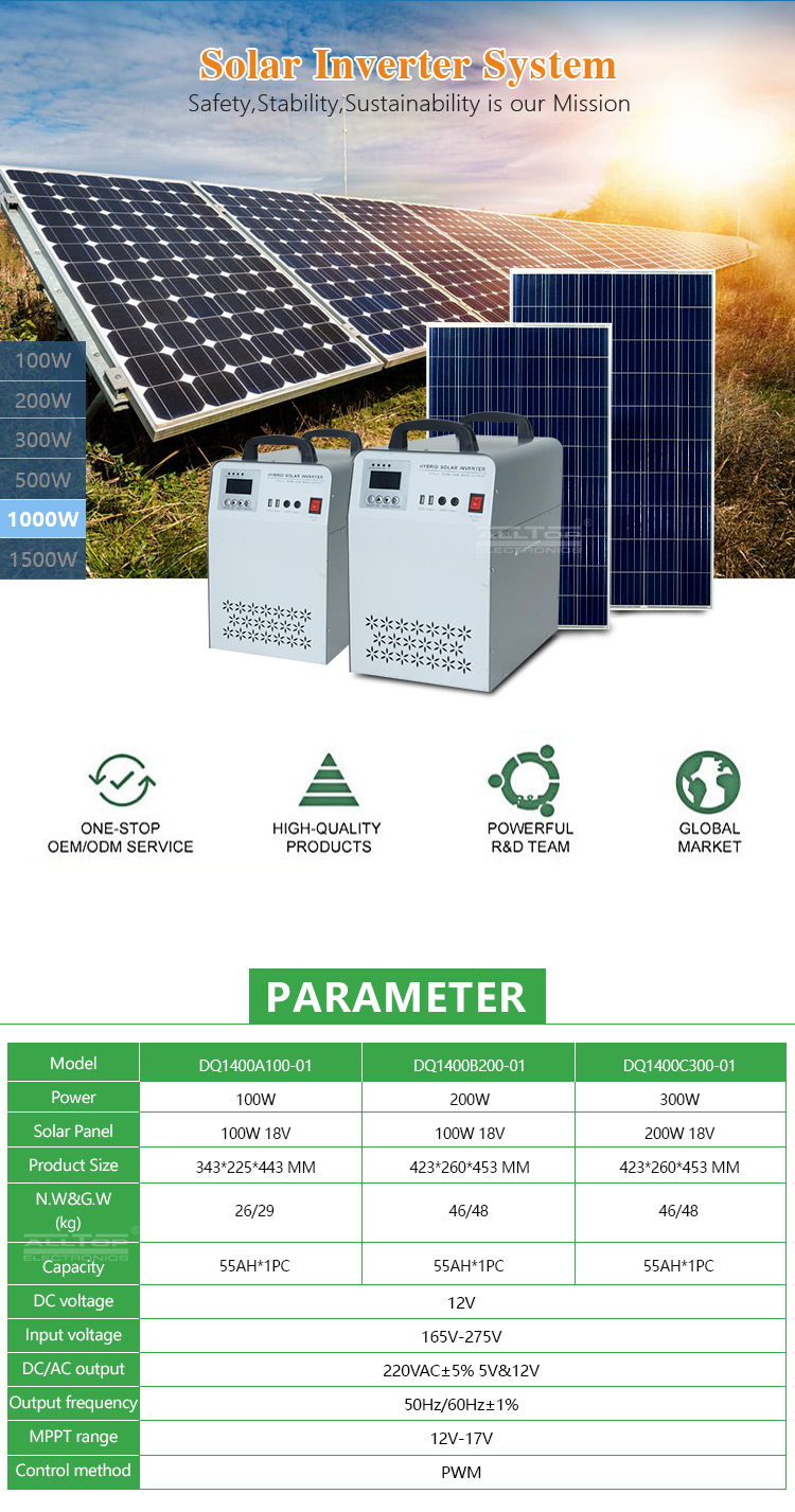 ALLTOP High frequency sine wave inverter 1kw 2kw 3kw 5kw 6kw solar power system with home