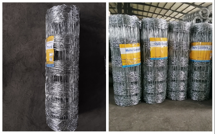 2.0meter Height 50mm vertical wire distance 50m long livestock metal fence panels