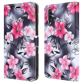 OEM Printing Painted Flip Wallet PU Leather Phone Case For Samsung A70