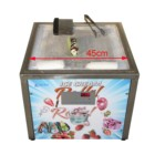 factory price 45x45cm Square Pan Table Top Mini counter topping taco rolled ice cream machine/fry ice cream machine