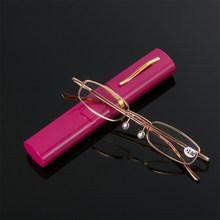 Унисекс Мини портативные очки для чтения в металлической оправе с металлическим корпусом, горячие тонкие очки, Уход За Зрением, очки для чте...(Китай)