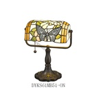 Tiffany Style Lighting Stained Glass Shade Butterfly Table Lamp For Study Office Bedroom