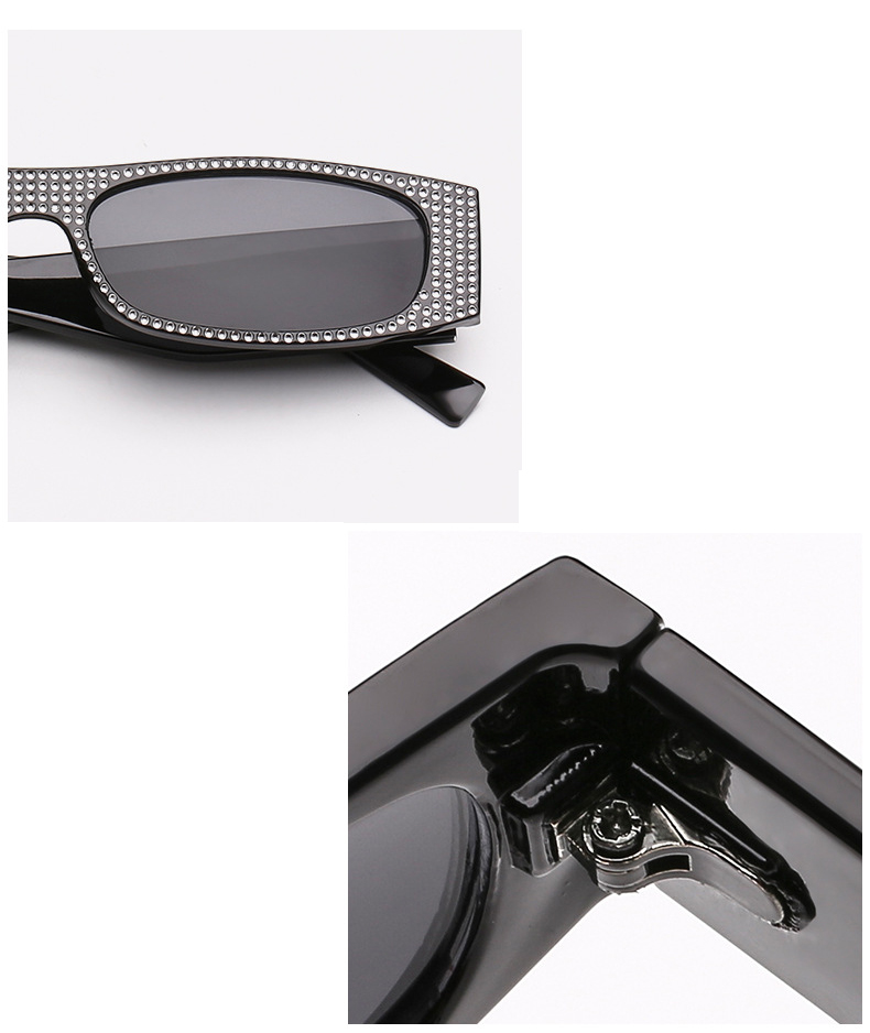Easy Match Custom Logo Printing Square Diamond  Women Men Sunglasses