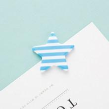 10 шт. полосатая звезда Смола Шарм аксессуары для изготовления ювелирных изделий красочная звезда DIY брелок Брелки Подвески Аксессуары(Китай)