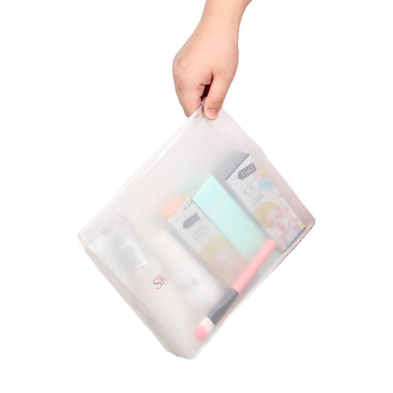 맞춤형 로고 젖빛 EVA 의류 포장 플라스틱 지퍼 가방 화장품 수영복 지퍼 잠금 파우치