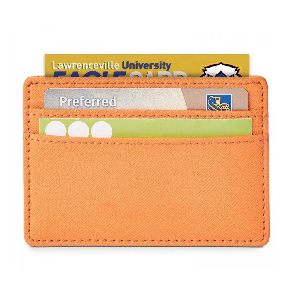men women custom logo luxury saffiano pu leather card holder credit card