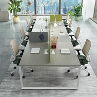 High quality Commercial Fashional design metal frame leg office furniture desk