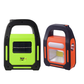 2019 New portable Solar USB Rechargeable COB work light for home