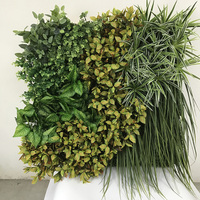 1m*1m Outdoor Green Plastic Plant Artificial Grass Wall Panels