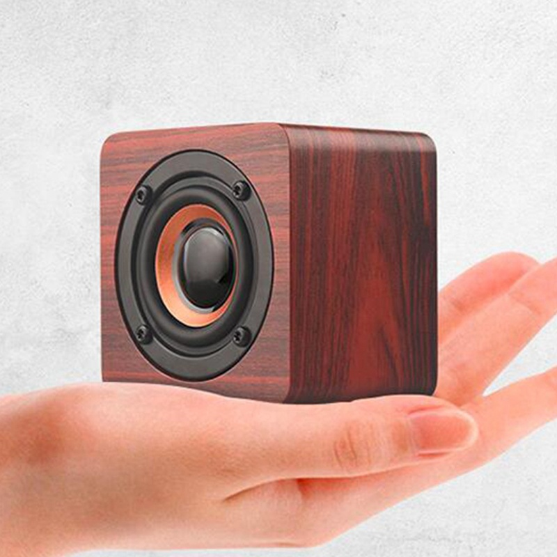 Rts New wooden cube home life portable Creative wireless speaker фото
