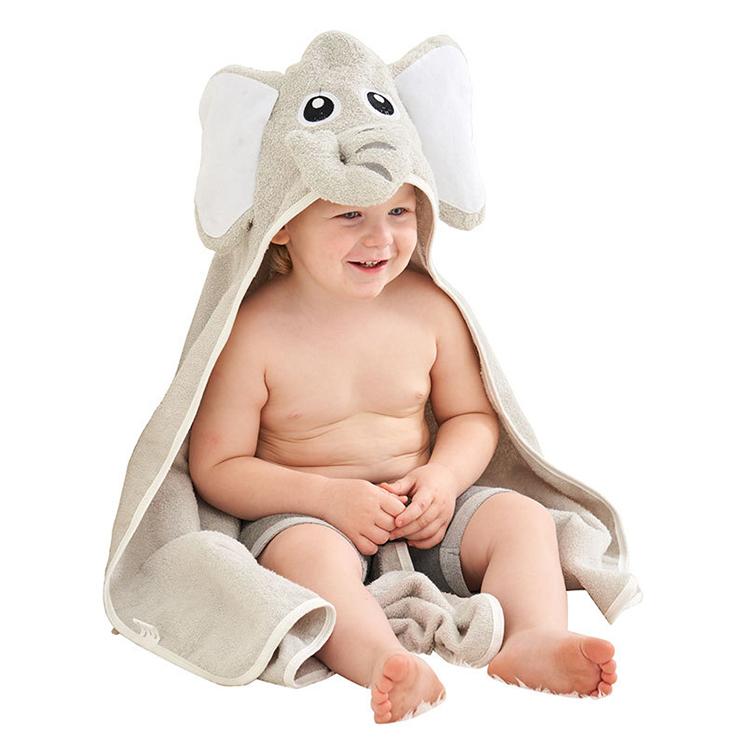 ¡Oferta! Toalla de baño con capucha para bebé con elefante de nuevo diseño