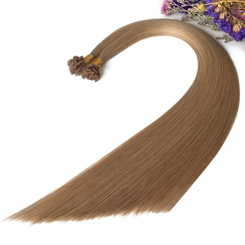 Thick End Flat tip 100% human cuticle virgin Double Drawn Skin weft ash blond #18 hair Extensions Cheapest Price