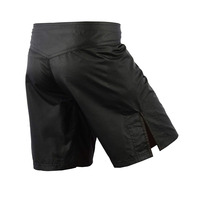 Black blank women MMA Boxing Shorts Pocket Trunks Fight Wear with Drawstring and make your own mma shorts