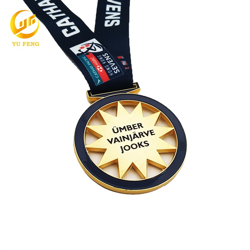 Luxury Metal Marathon Event Football Combination Plate Medal