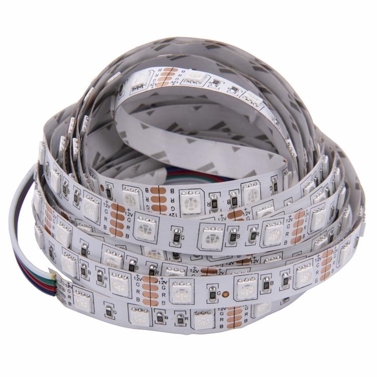 ShenZhen factory flex Led Strip Led+strip+lights Dc12v 10mm RGB 3M stick high quality soft strip light SMD5050 2835 60LEDs  6W