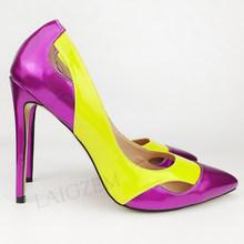 LAIGZEM/женские туфли-лодочки без шнуровки весенне-летние модельные туфли унисекс на тонком высоком каблуке для костюмированной вечеринки жен...(Китай)
