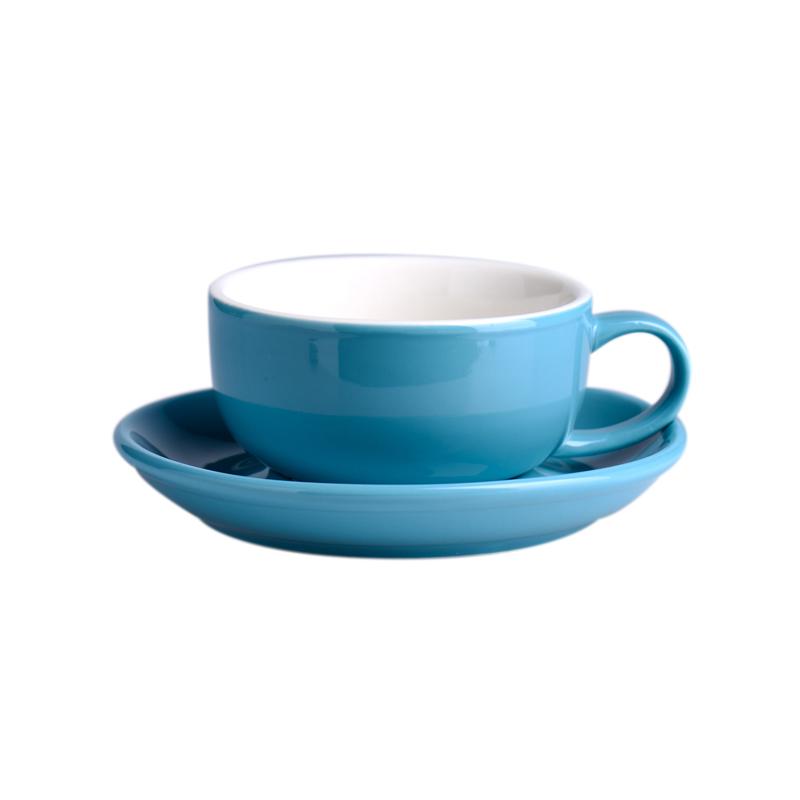Caneca de Café Cerâmica Com Placa de alta Qualidade Xícaras de Cappuccino E Pires de Porcelana Durável 250ml 8oz Para Todos Os Dias Café bebida