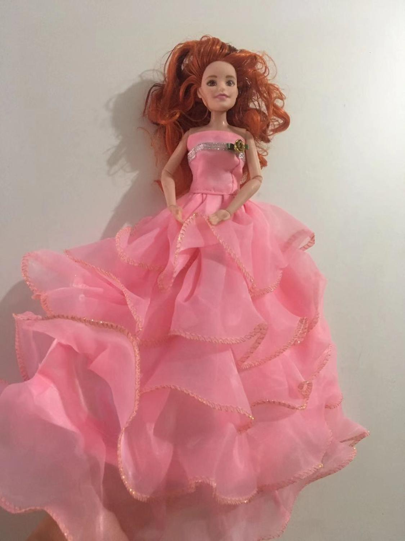 Кукла игрушка платье свадебная официальная одежда ручной работы кукла Тюль цветок платье для 30 см принцесса кукла аксессуары девочка подар...(Китай)