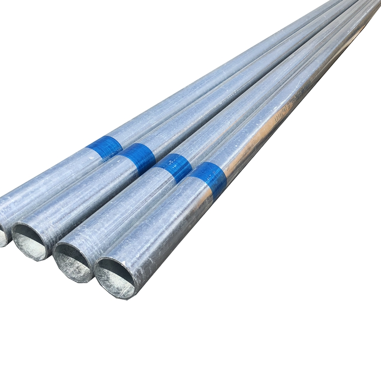 Prime Quality Round Hot Dip Galvanized gi pipe for scaffolding 6m unit weight