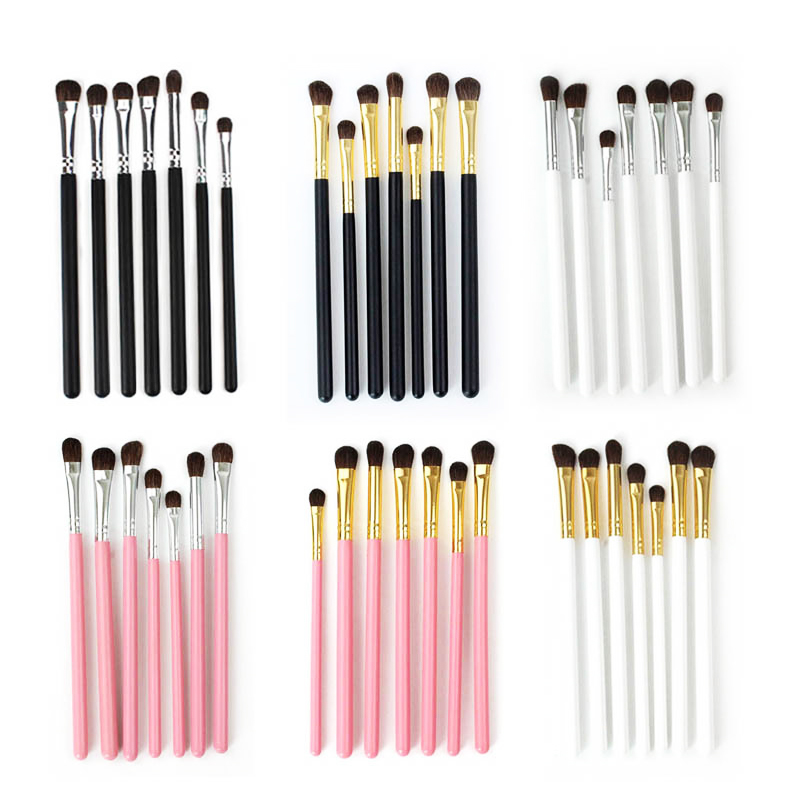 Kosmetik Vendor Penjual Panas 7 Pcs Makeup Brush Kit Kualitas Tinggi Private Label Kuas Kosmetik
