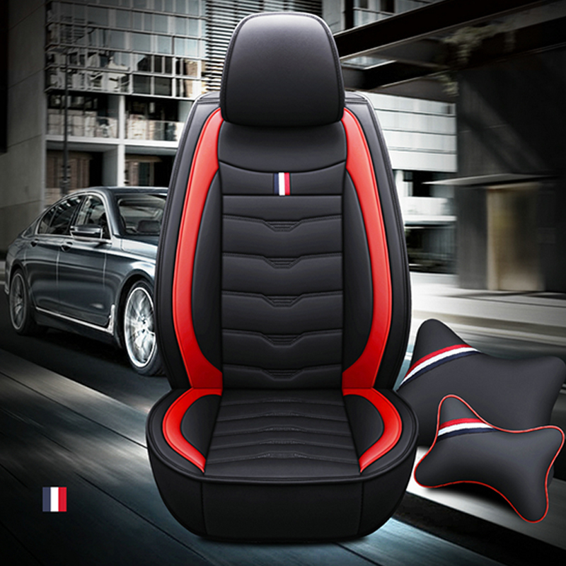 Universal Full Coverage Full Set Multiple Colors Luxury Pu Leather Car Seats Cover