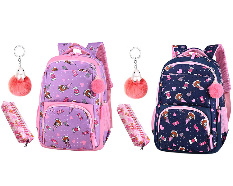 Primary schoolbags children backpack new design girls school bag