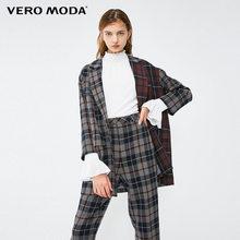 Vero Moda осенне-зимний цветной блейзер в клетку с отложным воротником | 319108516(Китай)