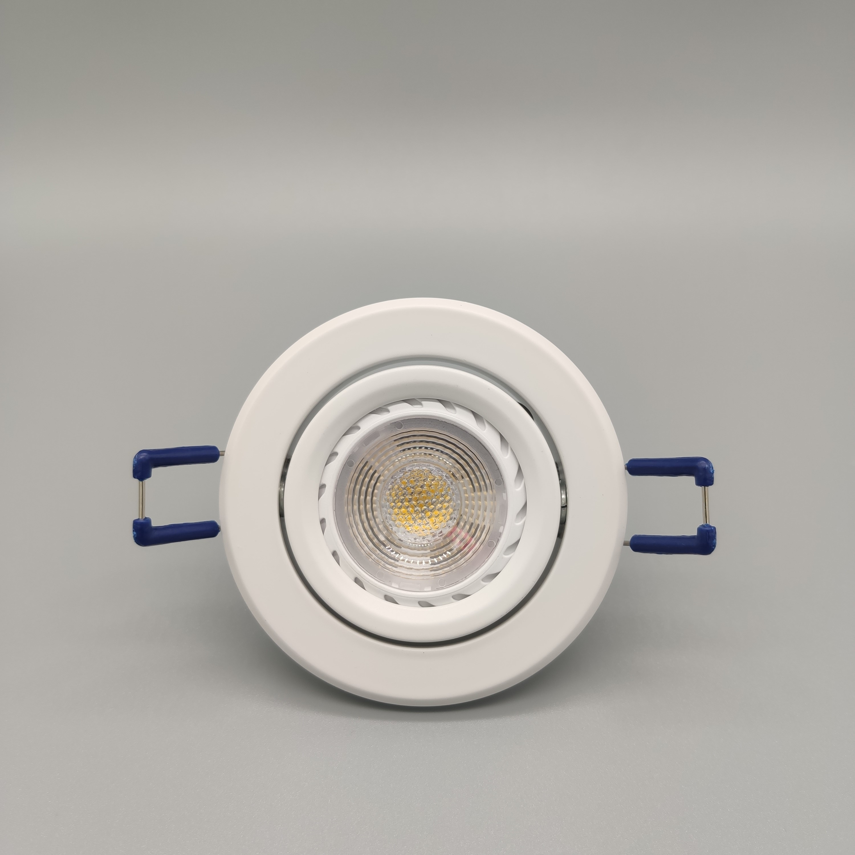 Replaceable <strong>GU10</strong> lamp downlight fixture mr16 pure aluminum round shape ceiling light aluminium <strong>holder</strong> downlight