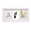 Solid Oak Wood Baby Photo Frame with Baby Hand Print Kit Clay Baby Foot Print Picture Frame