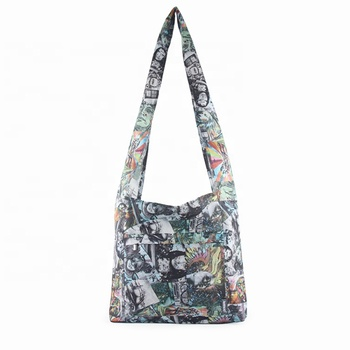 Full printing Heavy duty modern design stylish small canvas carry bag