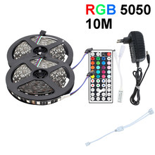 Черная печатная плата Светодиодная лента 5050 RGB DC12V водонепроницаемый гибкий светодиодный светильник с диодом 60LED/M WiFi Удаленная подсветка св...(Китай)