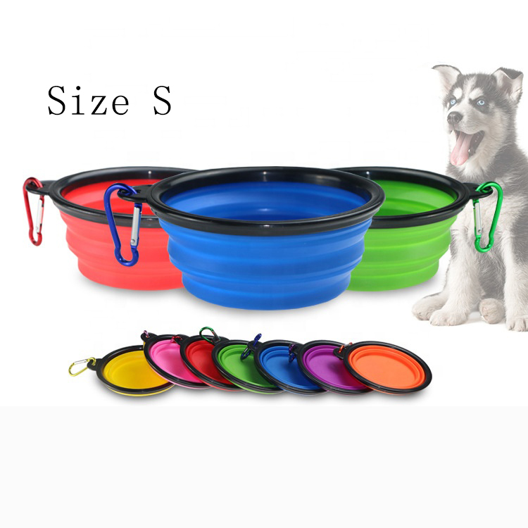 Small Water Folding Portable Travel Foldable Silicone Collapsible Food Pet <strong>Dog</strong> <strong>Bowl</strong> for <strong>Dog</strong>