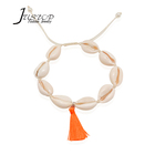 Shell jewelry adjustable woman men natural paua shell bracelet with tassel