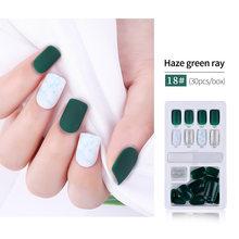 Новейший 24/30 шт Модный популярный дизайн ногтей поддельные ногти съемные многоразовые палочки на ногти нажмите на полное покрытие накладны...(Китай)