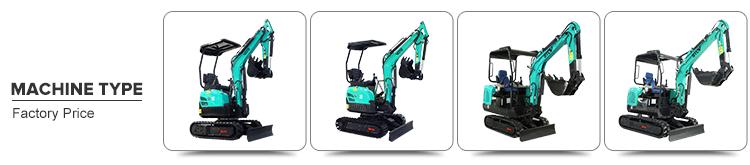 CE EPA Cina piccolo Idraulico escavatori mini escavatore 1ton 2 ton 3ton 6ton prezzo a buon mercato per mini escavatore