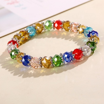 2017 Fashion Design Colorful Crystal Jewelry Beads Bracelet Woman Accessories