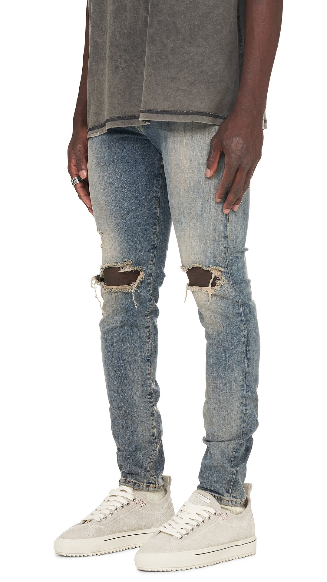 OEM  Destroyed stretch denim jeans rips skinny denim  clothes trousers manufacturer jeans man