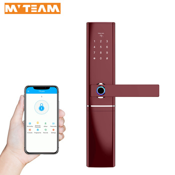 Phone Controlled Digital Lock WiFi Bluetooth Fingerprint Smart Door Lock With TTLOCK APP For Home Airbnb Apartment 5 Star Hotel