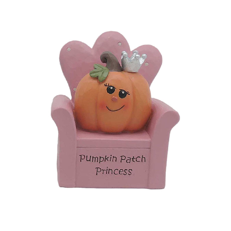 Pumpkin Princess On The Pink Sofa Pumpkin Figurines For Halloween Pumpkin Decor
