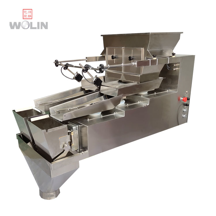 Special Flexible triplex vibratory electric weigher weighing scale <strong>machine</strong> for 1-5kg dates beef food hardware screw nut bolt