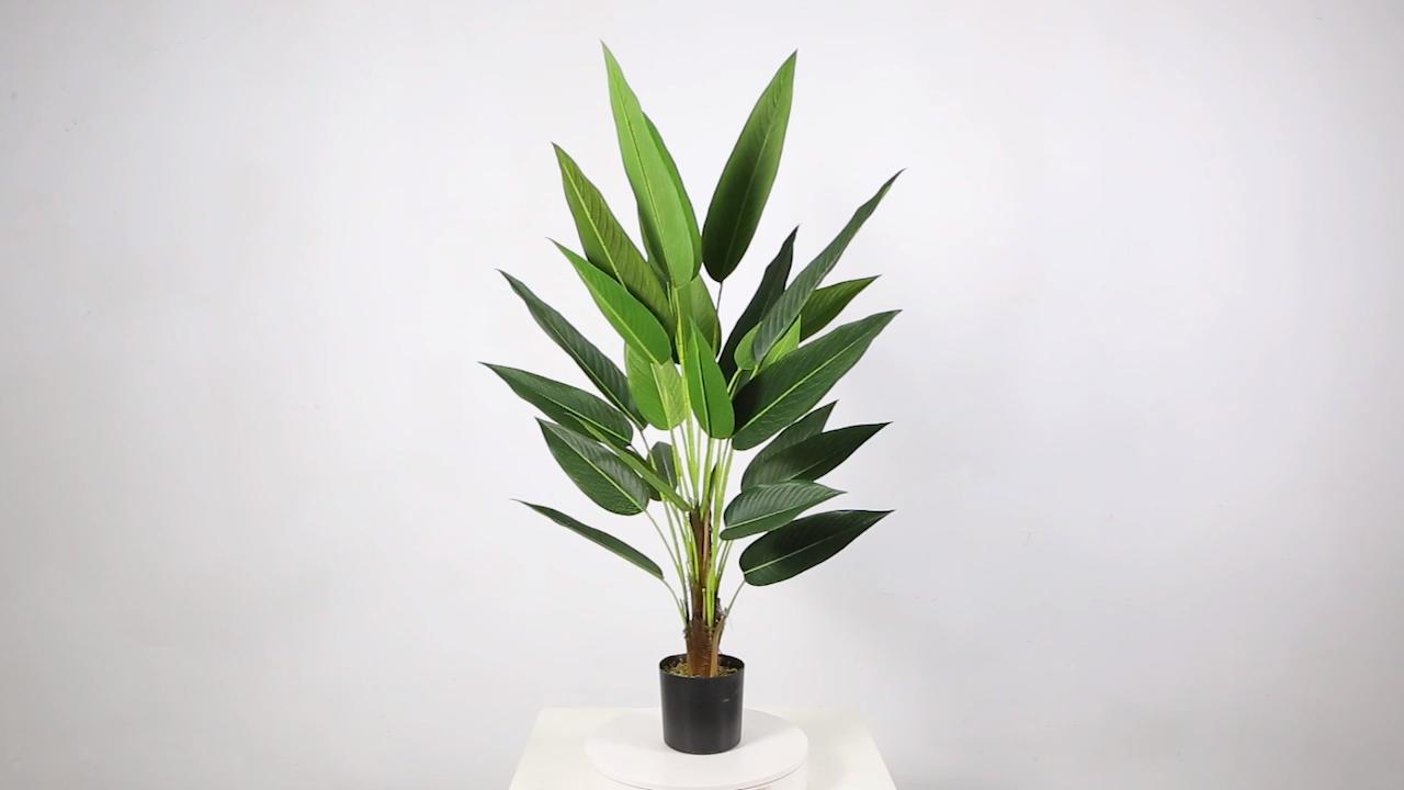 95cm Personnalisé Oiseau de Paradis En Pot Plantes Faux Arbre Artificiel Plantes Décor À La Maison