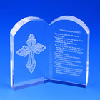 Laser Engraving Religion Custom Made Square Gift Crystal