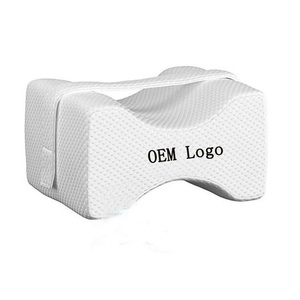 Orthopedic bamboo cover Cooling Gel/gel infused Memory Foam Knee Pillow For Back Pain Hip and Leg Pain